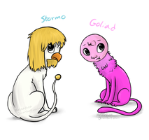 Stormo and Goliad by MelNathea