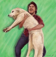 Markiplier and Lucy by sibbies