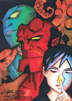 B.P.R.D sketch card by KidNotorious