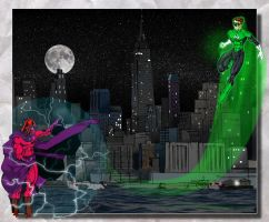 Green Lantern vs Magneto  by Toadman005