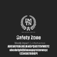 Dalmatian safety zone   font by StillPhantom