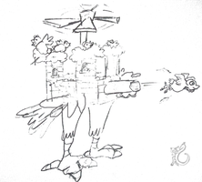Helicopter-tank-castle-of-chickens by WandererD