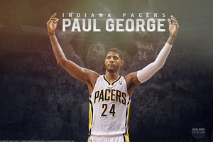 Paul George wallpaper w/ name by RafaelVicenteDesigns