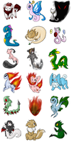 tCoD Fakemon Batch One by Coloursfall