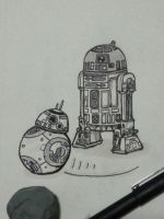 R2D2 and BB8 by herrenmedia