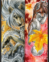 .:Autumn Fire:. by WhiteSpiritWolf