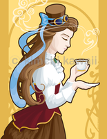 Steampunk Tea Time by kimchikawaii