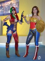 Injustice WW and Harley cosplay by Nemu013