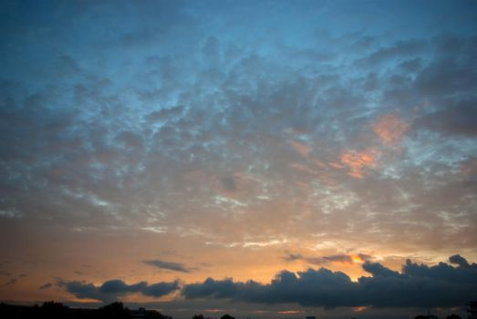 Morning clouds parade by steppelandstock