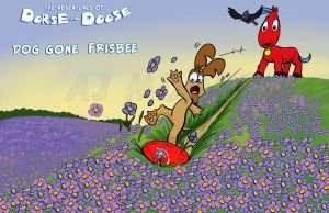 Dorse and Doose - Dog Gone Frisbee_Poster by GudFit