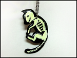 Glowing Black Cat Necklace by GrandmaThunderpants