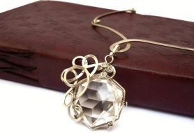 Wire Wrap Metal Necklace by hyppiechic