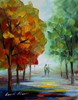 First Date by Leonid Afremov by Leonidafremov