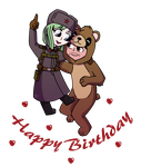 [Commission] Happy Birthday Soldier + Bear by ForeverRoseify