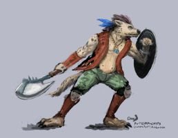 Gnoll-sketch (Commission) by maugryph