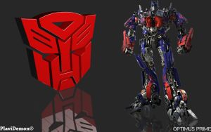 Optimus Prime (AUTOBOT Logo) by PlaviDemon