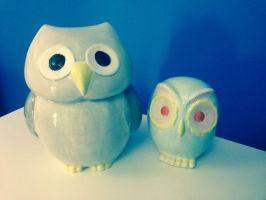 Owly pottery by No1hereatall