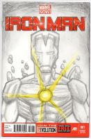 Iron Man 1 Sketch Cover by MarshallPlex