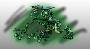 Steampunk Frog by tythecooldude06