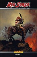 Red Sonja trade cover by LiamSharp
