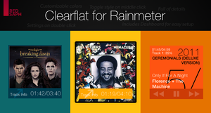 Clearflat for Rainmeter [v1.1 | 5/May/2014] by Redsaph