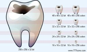 Bad tooth Icon by medical-icon-set