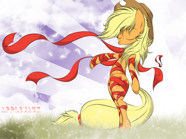 Applejack let the scarves fly by V-D-K