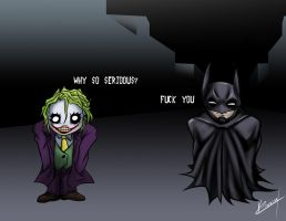 Batman and Joker by Karosu-Maker