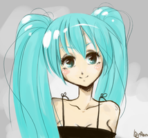 Cute Miku by Ann-Rentgen