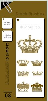 Brush Pack - Crowns 01 by MouritsaDA-Stock