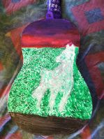 Painted Object: Guitar--Back 1. by NotSoCuteAndFuzzy
