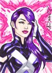 Psylocke ACEO by micQuestion