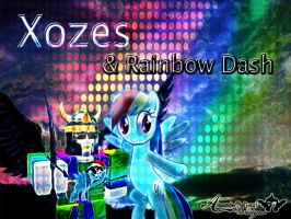 Xozes and Rainbow Dash [Requested Background] by BCMmultimedia