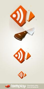 RSS Feed Icon CUT by templay-team