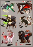 Adopts -  Classic Horror Palette! (SOLD) by runandwine