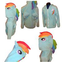 Rainbow Dash hoodie by aprikotclothing