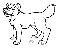Wolf Lineart by BadKitty-Adopts
