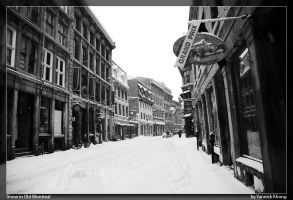 Snow in Old Montreal by confucius-zero