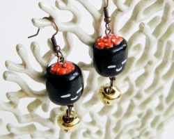 Ikura (Salmon Roe) Sushi Earrings by alexredford