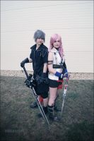 Countdown - Lightning and Noctis by dewymorning