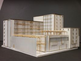 Baltimore Housing - Model North-East View by Nayias01