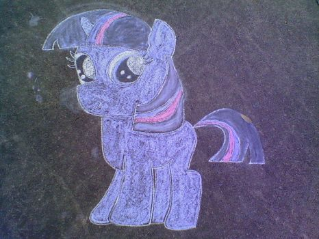 Chalk Filly Twilight Sparkle by keaton-furman-prower