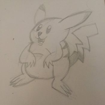 (American?)-style Pikachu by NathanTheMoldy