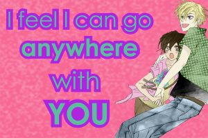 Anywhere with you by HaruhiK