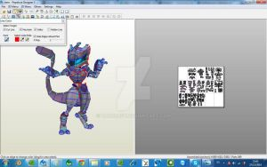Mewtwo Armored Papercraft by darcrash