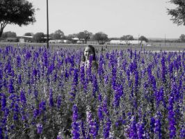 She Lives In Fields Of Blue by Curly2092