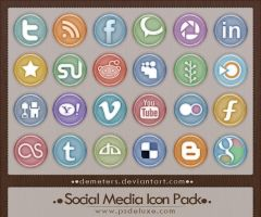 Social Media Icon Pack .VI by demeters