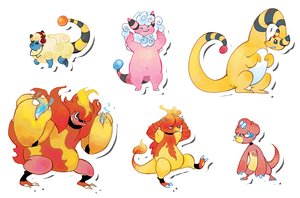 Pokemon Stickers Set 7 by Applewaffles