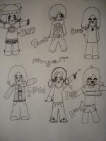 Friend Chibis -fullview- by Ms-sgt-pepper