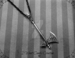 HANDMADE - Dwarves Axe by IWantCandyCreation